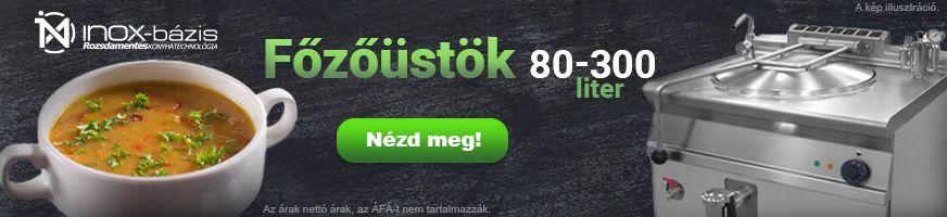 InoxBázis NAGYÜZEMI BERENDEZÉSEK / Főzőüst - InoxBázis, Attase