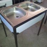 Eladó új, lábonálló 2 medencés mosogató   39.000+áfa