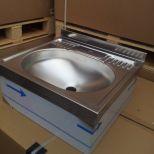 Eladó új, rozsdamentes acél fali kézmosó, mérete: 48x44x20 cm 20.000FT+áfa