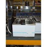új inox ipari nagy konyhai 12 literes olajsütő fritőz
