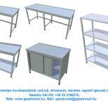 Rozsdamentes munkaasztal munka előkészítő feldolgozó asztal