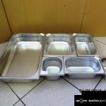 Rozsdamentes GN edények, sima,illetve siliconos fedővel