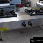 új inox asztali 2 égős gáztüzhely fözőtüzhely 6kw-os égőkkel fotó