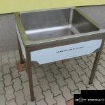 Rozsdamentes 1 medencés ipari mosogató használt eladó