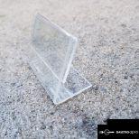 Átlátszó műanyag árcimke tartó 60x40mm
