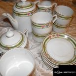 Antik teáskészlet (15 darabos)
