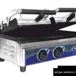 új inox dupla kontaktgrill tost sütő alsó sütőfelület 52x25cm-es felső 25x25 cm-es grillsütő