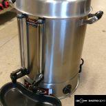 új inox 23L-es dupla tartályos 2 csapos ital főző melegentartó adagoló boci