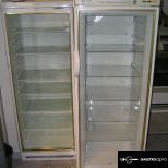 Üvegajtós hűtő:240 literes:125 cm magas garanciával!