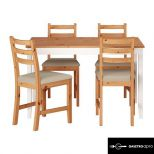 Vintage stílusú asztal, négy székkel eladó!