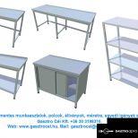 Rozsdamentes munkaasztal munka előkészítő feldolgozó asztalok egyedi igények szerint is !