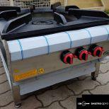 őrlánggós piezó gyújtós inox ipari nagy konyhai 3 égős 25 kw-os gázzsámoly főzőzsámoly garanciával!