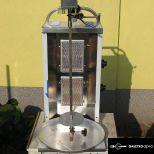 Gyrossütő 2 gázégőfejes rozsdamentes gyros sütő, elektromos forgató motorral