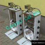 Gyrossütő 4 gázégőfejes rozsdamentes gyros sütő elektromos forgató motorral
