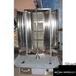 új inox alsó motoros 4 égős gyros sütő gyrossütő készítő hőterelő és tálcaszélesítő lemezekkel