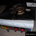 új inox ipari nagy konyhai 14,5kw-os őrlángos gázzsámoly főzőzsámoly garanciával!