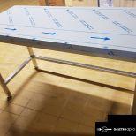 új inox fóliás munkaasztal 140x60x85cm-es garanciával!