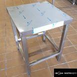új fóliás inox ipari nagy konyhai 40x40cm-es stoki