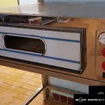 Pizzakemence pizza kemence pizza sütő 1 aknás 70x70cm-es kamraméret
