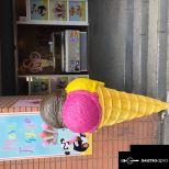 Fagylalt reklám bábu