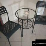 ELADÓ üveglapos asztalka 2 db székkel !