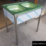 ÚJ inox rozsdamentes acél fóliás 2 medencés mosogató