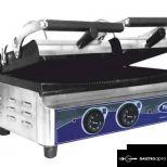 új inox dupla kontaktgrill tost sütő alsó sütőfelület 52x25cm-es felső 2x25x25 cm-es grillsütő