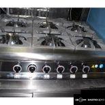 Új inox 75-ös széria 6 lángos ipari nagy konyhai gáztűzhely 7kw-os égökkel garanciával eladó!