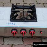 új inox ipari nagy konyhai 3 égős gáztűzhely főzőtüzhely asztali zsámoly 6kw-os égőkkel garanciával