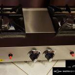 új inox ipari nagy konyhai asztali zsámoly 2 égős gáztüzhely fözőtüzhely 6kw-os égőkkel garanciával
