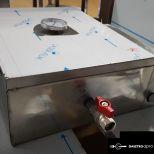 új inox fóliás késfertőtlenítő vízfürdős kés fertőtlenítő tároló