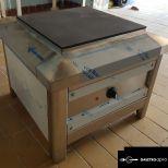 új inox ipari nagy konyhai 6000W-os elektromos zsámoly főzőzsámoly