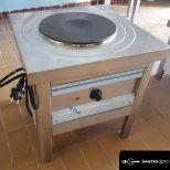 új inox ipari 3500W-os elektromos zsámoly főzőzsámoly