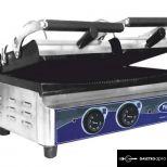 új inox ipari dupla kontaktgrill tost sütő alsó sütőfelület 54x25cm-es felső 2x26x25 cm-es grillsütő