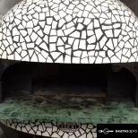 Kézműves, Olaszországban készült gázfűtéses Pizza kemence eladó (80x80)