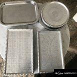 Retro süteményes aluminium tálcák