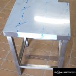 új fóliás inox ipari nagy konyhai 40x40cm-es stoki stokedli