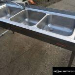 Ipari mosogató 3 tálcás