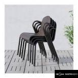 Új, bontatlan ikea tunholmen barna kültéri aluminium székek 10 db